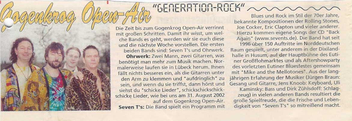 "Gogenkrog Open-Air ""Generation-Rock"" 2002"