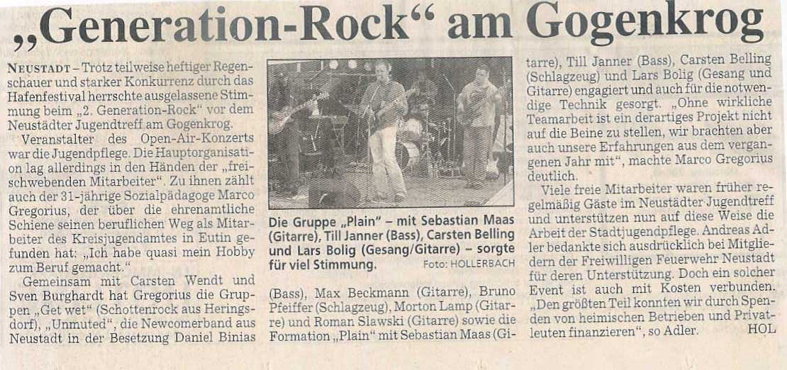 """Generation-Rock"" am Gogenkrog"